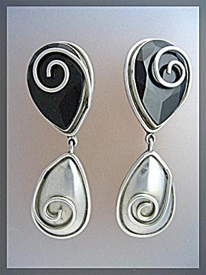 Earrings BRENDA SCHOENFELD Sterling Silver  Mexico 1990 (Image1)