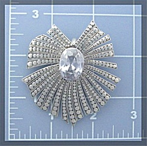 Pendant Sterling Silver Natural White ZIRCON Peggy V (Image1)