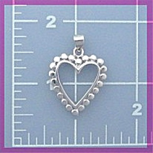 Sterling Silver Heart Pendant or Charm (Image1)