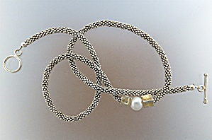 Necklace Sterling Silver 9mm Freshwater Pearl  Toggle C (Image1)