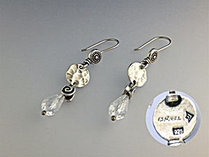 Earrings Sterling Silver Rock Crystal Silpada