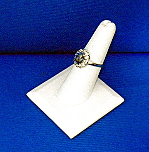 Ring Cornflower Blue Sapphire 2.60 Ct Sterling Silver (Image1)