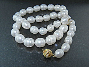 14k Gold Clasp Freshwater Pearls Necklace