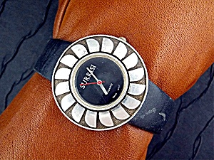 Wristwatch Surrisi Sterling Silver Black Onyx Face