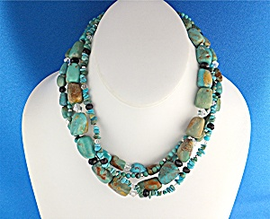 Silpada Turquoise Crystal Sterling Silver Necklace