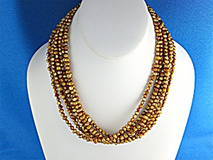 Necklace Silpada Golden Pearls Sterling Silver