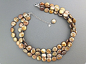 Necklace Bronze Coin Pearls SILPADA Sterling Silver (Image1)