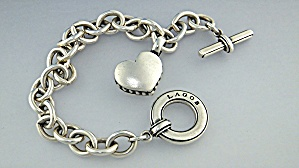 Bracelet Lagos Sterling Silver Heart Toggle