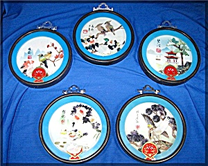 Oriental plaques - Pearl brand - set of 5 (Image1)