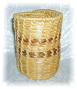 HAND MADE WOVEN BASKET - PAPAGO (Image1)