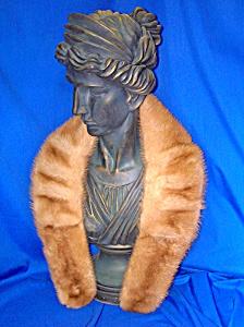 MINK Beige Vintage Collar Wrap Scarf (Image1)