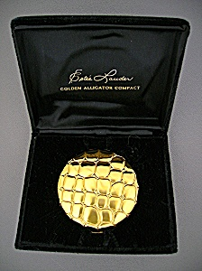 Estee Lauder Alligator Powder Compact In Original Box (Image1)