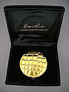 Compact  Estee Lauder Gold Alligator Original Box (Image1)