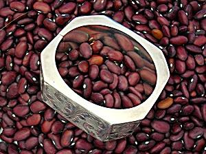 Sterling Silver Vintage Hinged Bangle Bracelet (Image1)