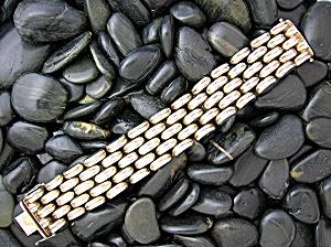 Sterling Silver Woven Link Vintage Bracelet ITALY (Image1)
