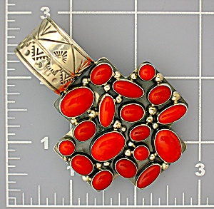 Native American Sterling Silver Mediterranean Coral