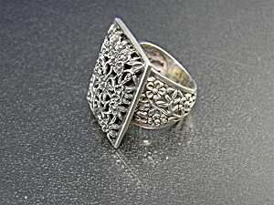 Exex By Claudia Agudelo Sterling Silver Ring 7 1/2