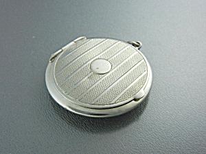 Silver Chrome Pill Box Locket USA (Image1)