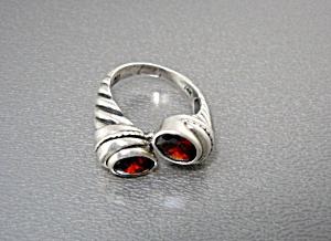 14K Sterling Silver Garnet Ring (Image1)