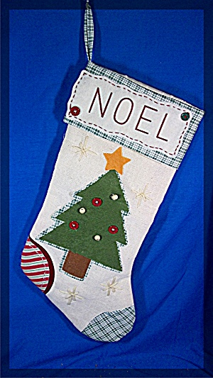 Christmas Stocking, hand made, NOEL (Image1)