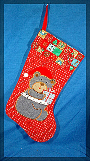 Christmas Stocking, Teddy Bear (Image1)