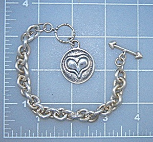 Exex Sterling Silver Heart Charm Bracelet Claudia Agude