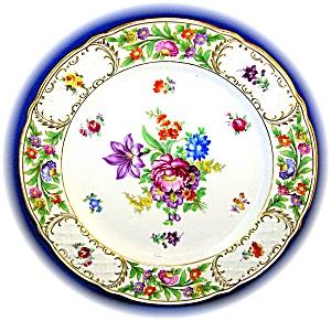 Hand Painted Porcelain Flower Plate Schumann Bavaria (Image1)