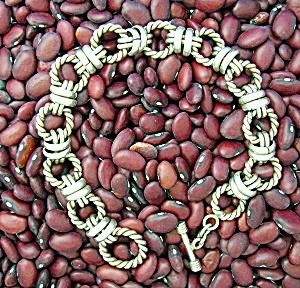 Sterling Silver Link Toggle Clasp Bracelet (Image1)