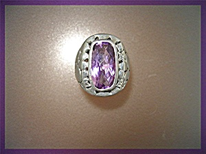 Ring Amethyst Sterling Silver John Hardy Look (Image1)