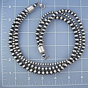 Necklace Sterling Silver Antiqued 3 Strand 68 Grams (Image1)