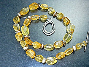 Silpada Sterling Silver Citrine Necklace