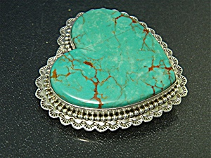 David Troutman Sterling Silver Kingman Turquoise Pendan