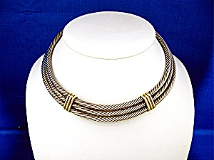 David Yuman 14k Gold Sterling Silver Collar