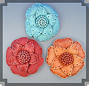 Leather Flower Brooch handmade for Lapel or Hat ....... (Image1)
