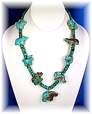 Native American Carved Turquoise Stacey Turpen