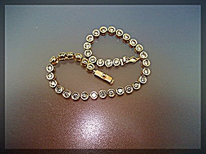 Bracelet 14K Gold Bezel Set Diamond Tennis ......... (Image1)