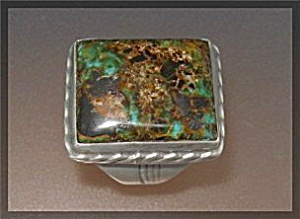 Nativeamerican Sterling Silver Cerillos Turquoise Ring