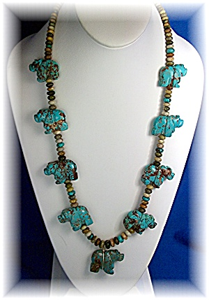 Native American Hand Carved Turquoise Stacey Turpen