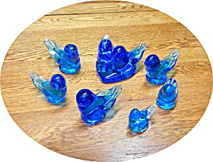 Blue Bird Of Happiness Lot Of 7 Pieces.