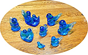 Blue Bird Of Happiness Lot Of 8 Pieces