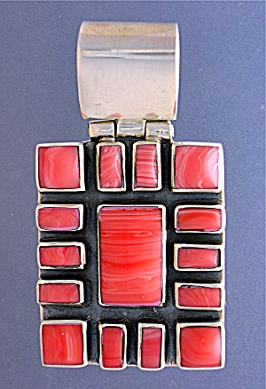 Sterling Silver Pink CORAL Pendant (Image1)