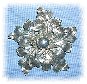 STERLING SILVER CINI LEAF PIN BROOCH......... (Image1)