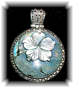 Sterling Silver Laboradite Mother of Pearl Pendant (Image1)