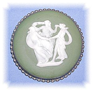 STERLING SILVER THREE GRACES JASPER BROOCH (Image1)