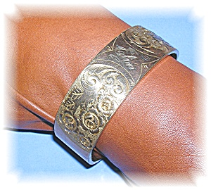 ART DECO GOLD FILL BANGLE BRACELET 50s (Image1)