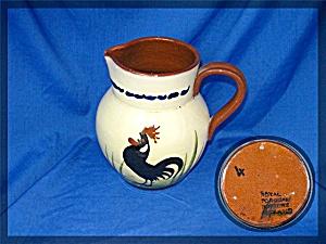 Torquay Pottery Motto Pitcher Chicken Motif (Image1)