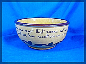Allen Vale Pottery Motto Bowl There's Mair In The Kitch (Image1)