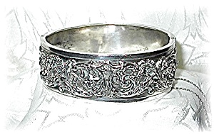 European Hallmarked Silver Bangle Bracelet