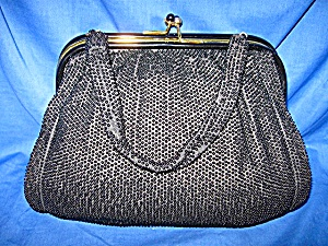 Vintage  Bead Bag Purse Double Compartment (Image1)