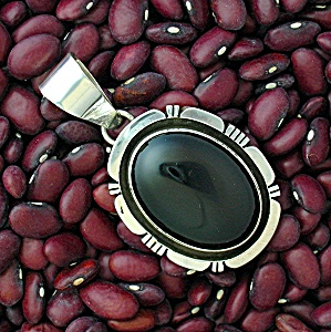 Native American Sterling Silver Onyx Rita Touchine